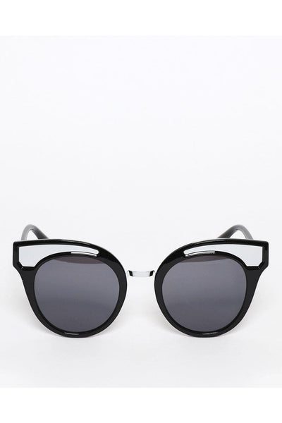 Black Mirror Frame Cat Eye Sunglasses-SinglePrice