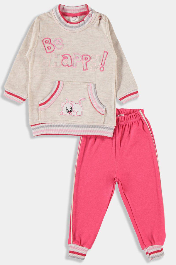 Pomegranate Kangaroo Pocket Baby Girl Set - SinglePrice