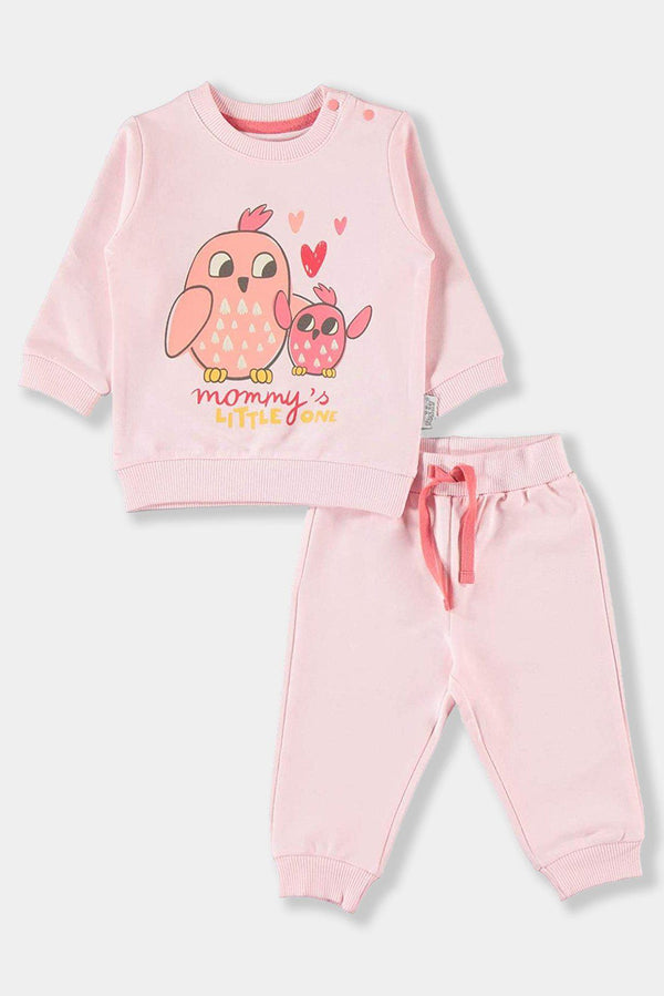 Pink Tweety Cotton Baby Girl Set