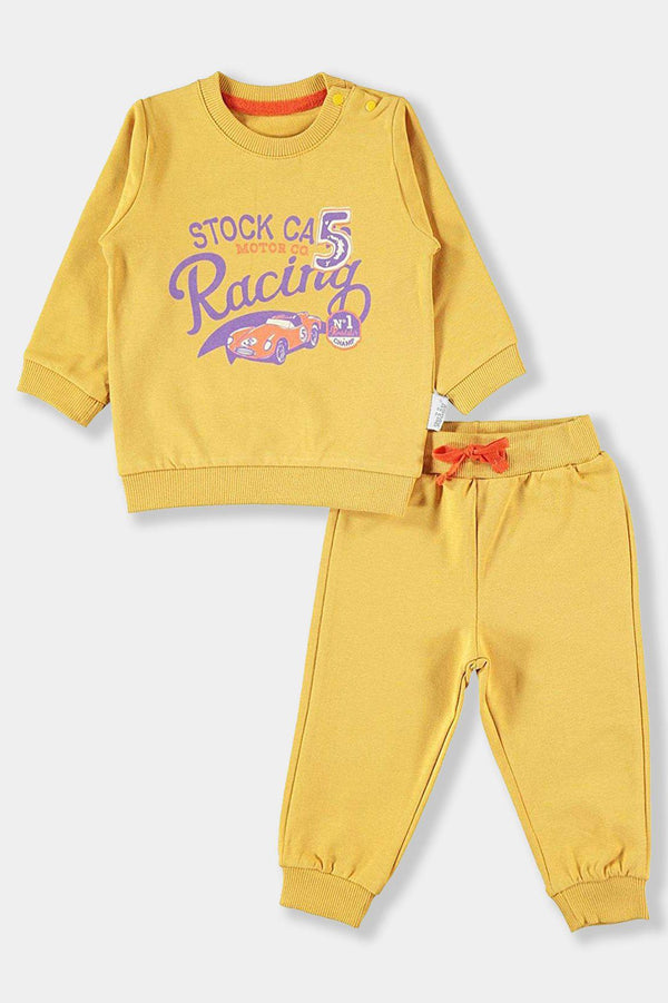 Yellow Racing Cars Baby Boy Set