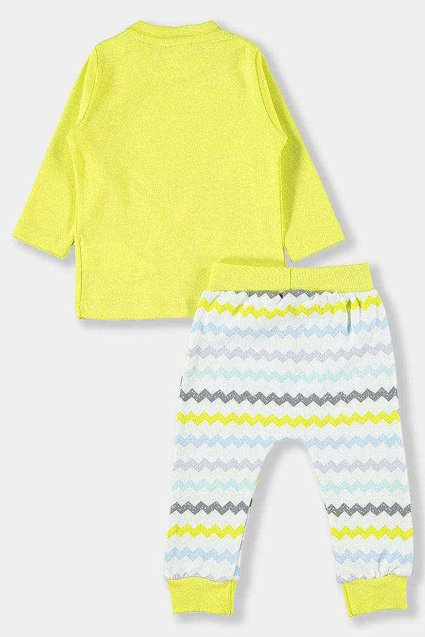 Yellow Zig Zag Cotton Baby Unisex Set