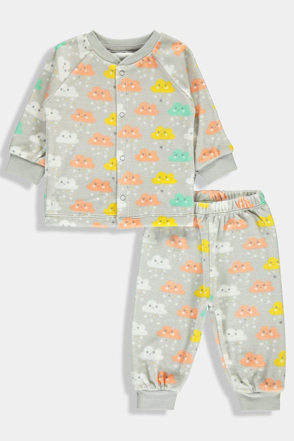 Multicolour Rainy Clouds Print Baby Unisex - SinglePrice