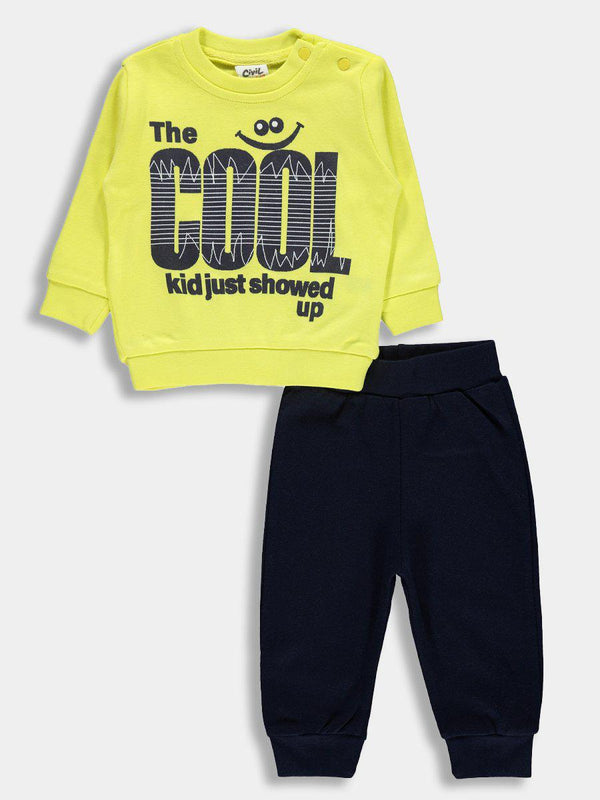 "Yellow ""Cool Kids"" Baby Boy Set - SinglePrice"
