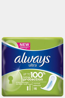 Always Ultra Sanitary Towels Normal 16's - SinglePrice