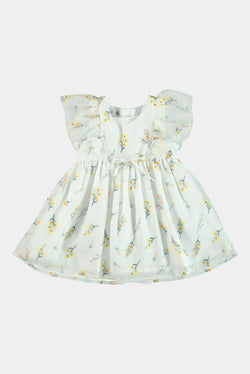Floral Print Girls Dress - SinglePrice