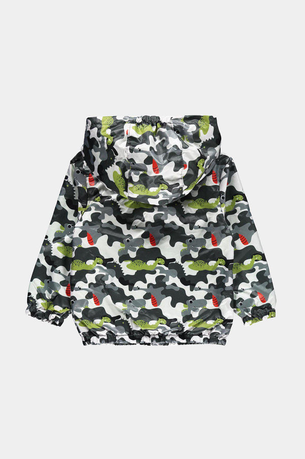 Grey Civil Baby Baby Boy Raincoat with Fancy Design - SinglePrice