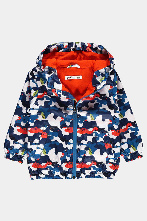 Blue Civil Baby Baby Boy Raincoat with Fancy Design - SinglePrice