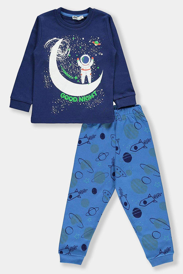 Blue Space Good Night Kids Boy Cotton Set