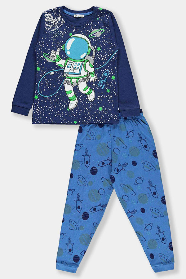 Blue Spaceman Kids Boy Cotton Set