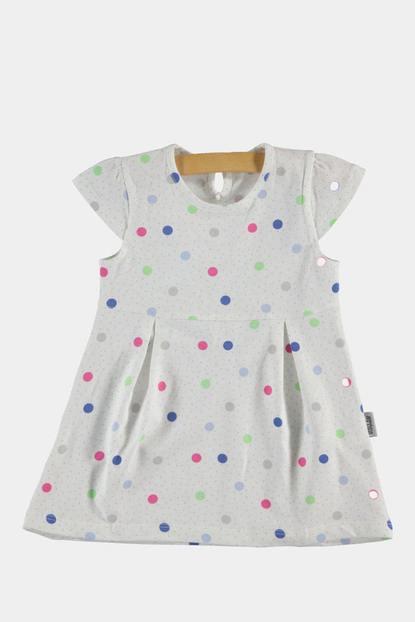 White Polka Dot Baby Girl Summer Dress - SinglePrice
