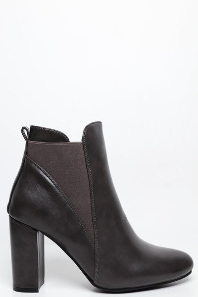 fa2d729305bc Block Heel Chelsea Ankle Boots-SinglePrice ...