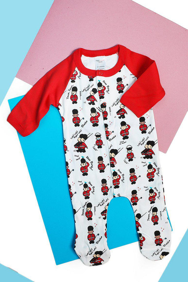 White Red London Guard All In One Romper - SinglePrice