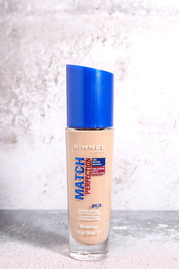 Rimmel Match Perfection 24Hr Foundation In 90 Porcelain - SinglePrice