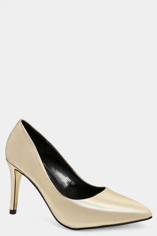 Gold Mirror Stiletto Heels - SinglePrice