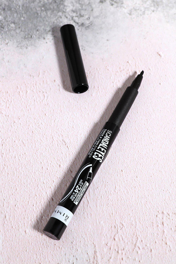 Rimmel Scandaleyes Thick And Thin Eyeliner In Black - SinglePrice
