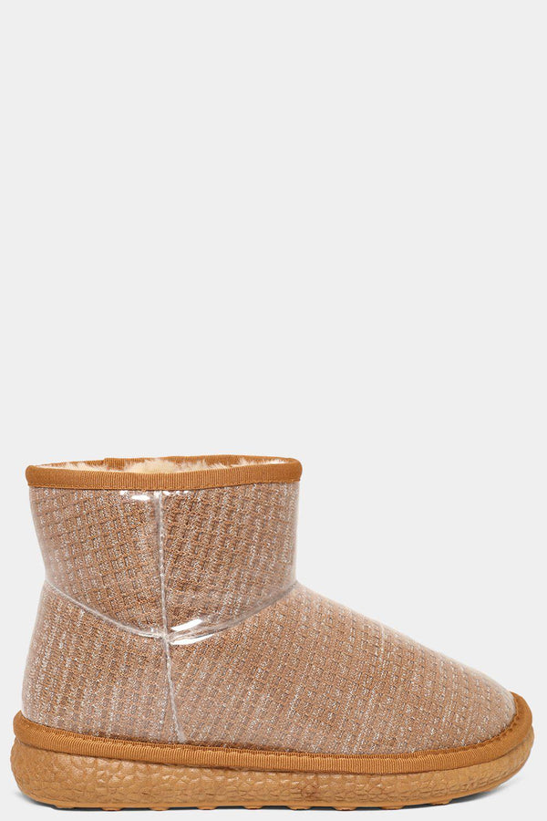 Camel Clear Perspex Outer Mesh Warm Boots - SinglePrice