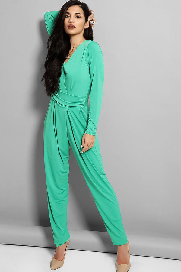 Green Cowl Back Jumpsuit