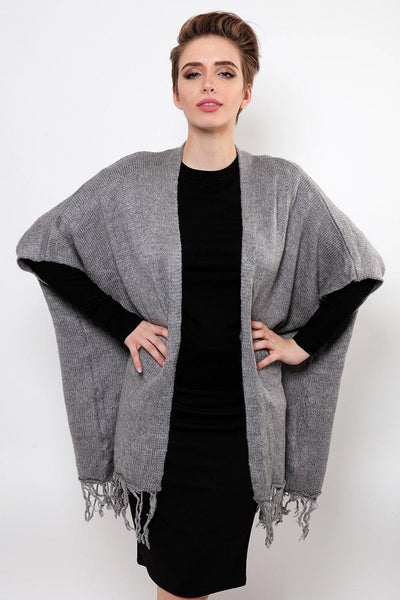 Grey Square Knitted Cardy-SinglePrice