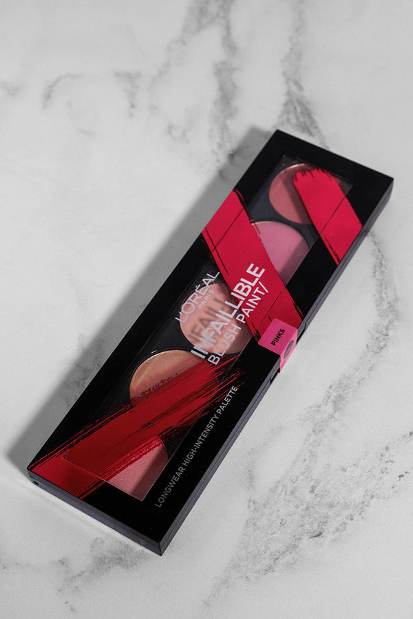 L'Oreal Infallible Blush Paint Palette In Pinks - SinglePrice