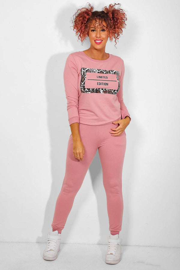Pink Snake Print Limited Edition Tracksuit-SinglePrice