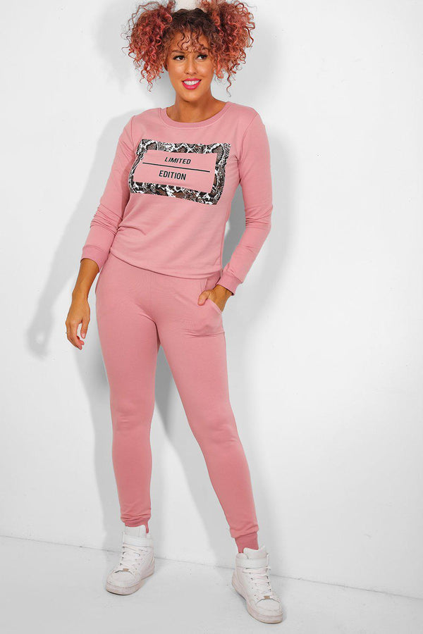 Pink Snake Print Limited Edition Tracksuit