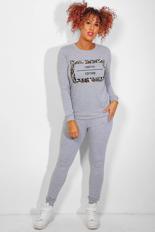 Grey Snake Print Limited Edition Tracksuit