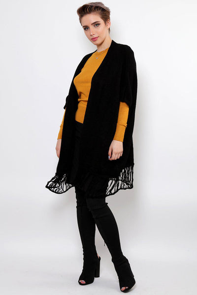 Black Square Knitted Cardy-SinglePrice