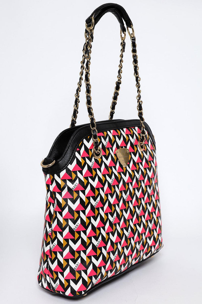 Pink 3D Print Chain Handles Bag-SinglePrice