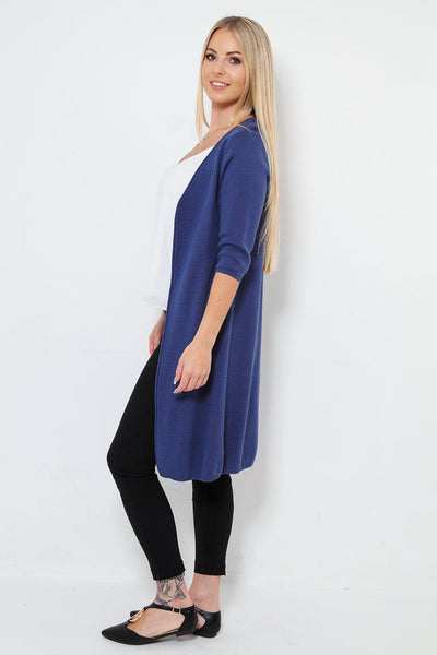 Thick Knit Long Open Front Cardigan-SinglePrice