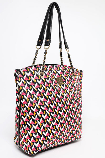 Pink 3D Print Large Shopper Bag-SinglePrice