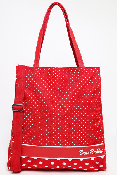 Extra Large Red Polka Dot Shopper Bag-SinglePrice