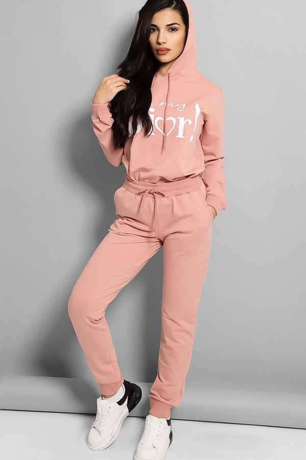 OMD Slogan Cotton Blend Tracksuit - SinglePrice
