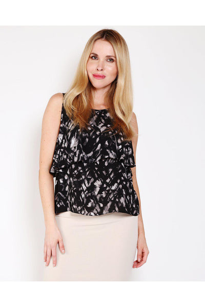 Black Layered Sleeveless Top-SinglePrice