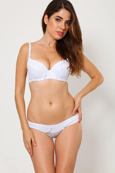 White Lace Bra And Brief Set-SinglePrice
