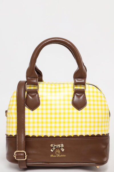 Small Yellow Gingham Doctor Bag-SinglePrice