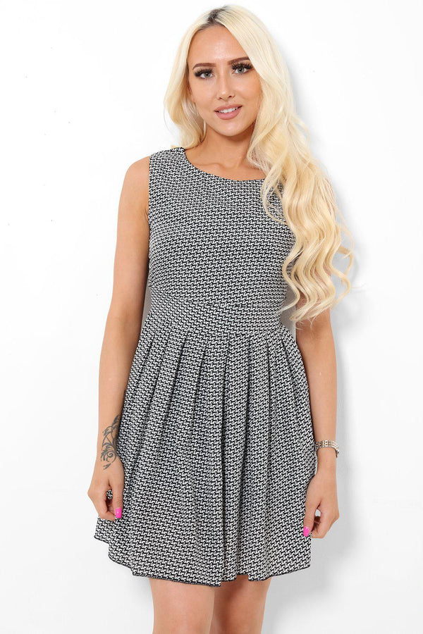 Monochrome Mini Horse Print Dress - SinglePrice