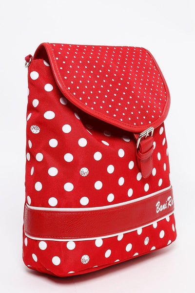 Red Polka Dot Backpack Side Bag-SinglePrice