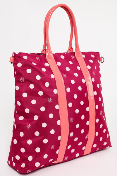 XL Pink Polkadot Shopper Bag-SinglePrice