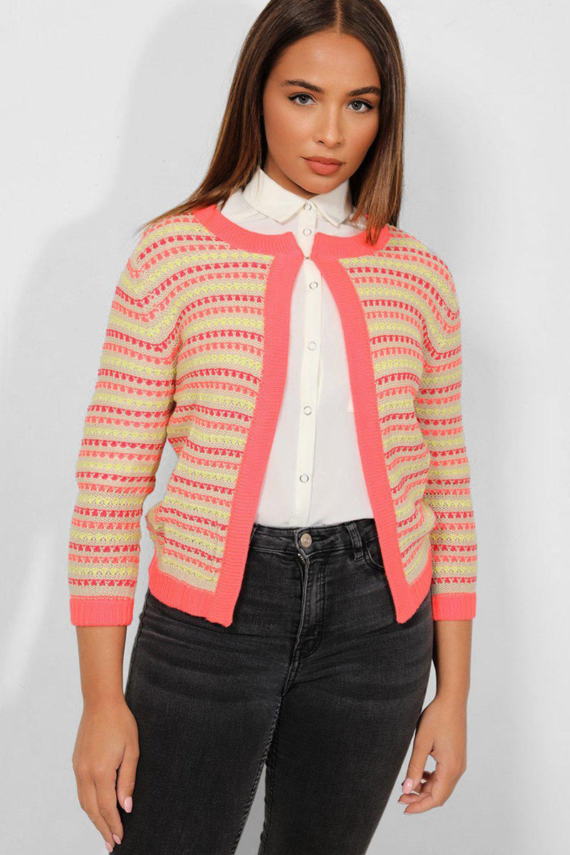 Multicolour Hook-And-Eye Patterned Knit Pullover - SinglePrice