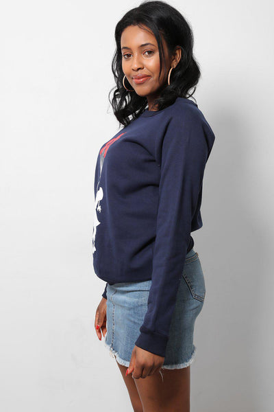 Red Balloons Navy Printed Sweatshirt