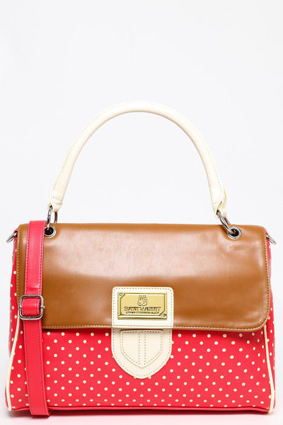 Medium Red and White Polkadot Satchel-SinglePrice