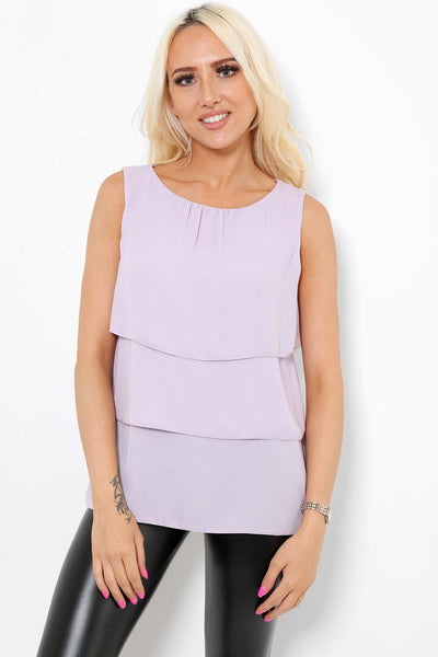 Light Purple Layered Top-SinglePrice
