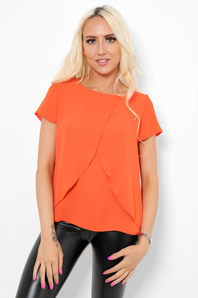 Orange Layered Sides Top-SinglePrice