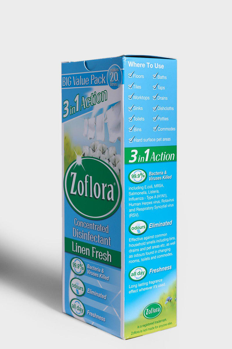 Zoflora Concentrated Disinfectant Linen Fresh 500ml - SinglePrice