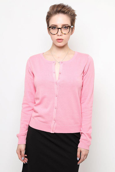 Classic Basics Pink Cardy-SinglePrice