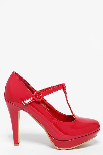Red Patent T-Bar Heels-SinglePrice
