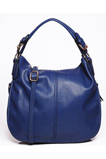 Blue Adjustable Width Large Shoulder Bag