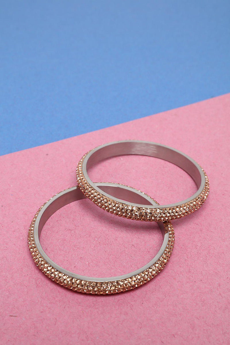 Pack Of 2 Pink Gem Fire Skinny Bangles - SinglePrice