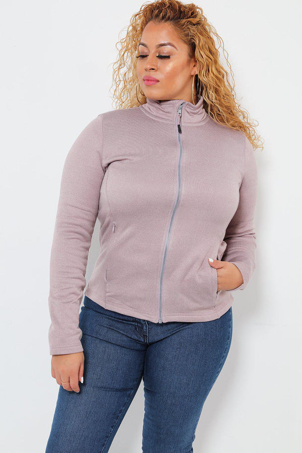 Super Stretch Pink Fleece Jacket - SinglePrice