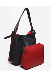 Two-In-One Two Tone Red Shoulder Bag